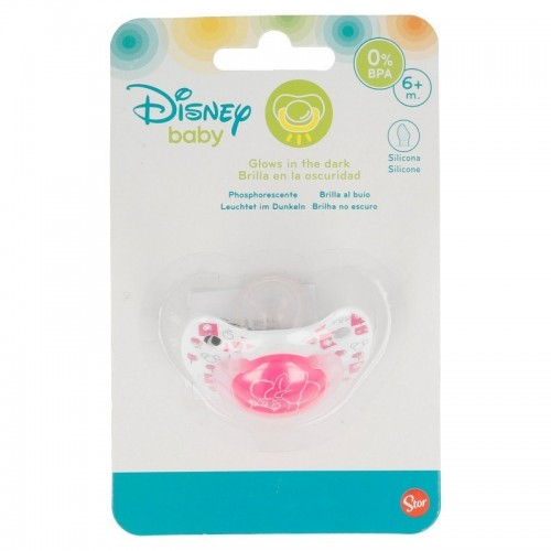 Disney Baby Minnie Mouse speen ( glow in the dark) 6 mnd
